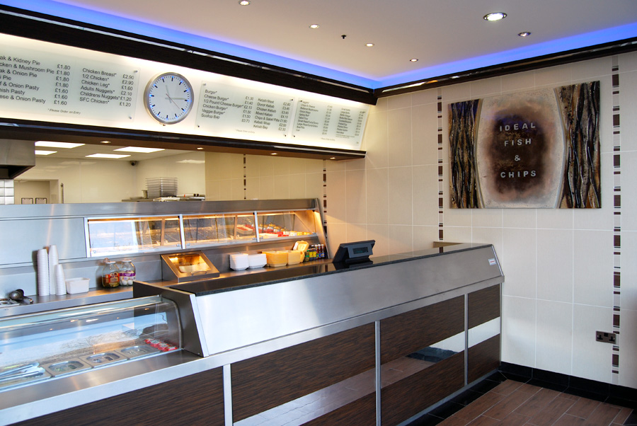 Ideal fish and chips shopfitting case study by centreplan