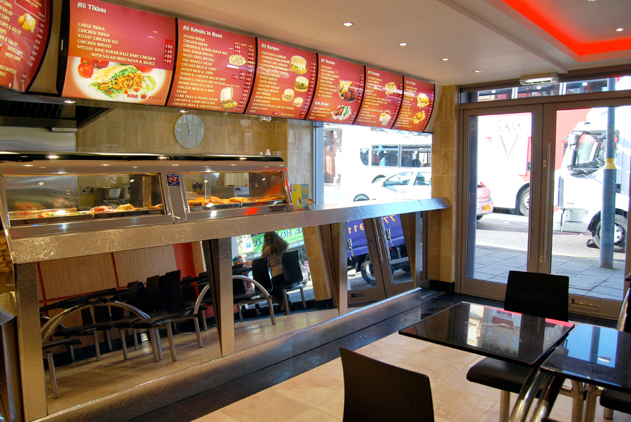 King kebab shopfitting case study by centreplan